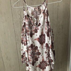 Beautiful long sleeve boho F21 cold Shoulder dress